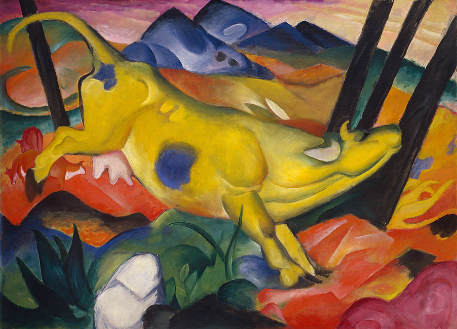 Yellow Cow (Gelbe Kuh), Franz Marc. 1911. Solomon R. Guggenheim Museum, New York