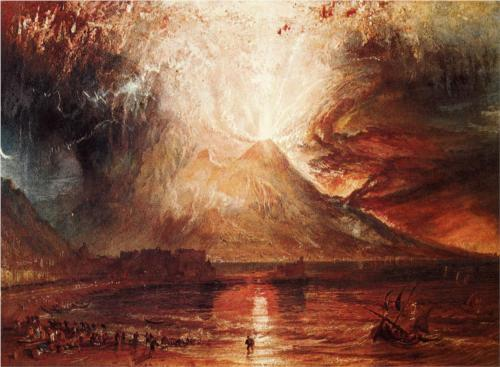 """Mount Vesuvius in Eruption, 1817,"" by William Turner. Yale Center for British Art, Paul Mellon Collection, Wallington, Connecticut, USA"